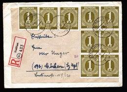 A5658) SBZ Kontrollrat 10fach-Frankatur R-Brief Staßfurt 27.7.48 Sign. - Sowjetische Zone (SBZ)