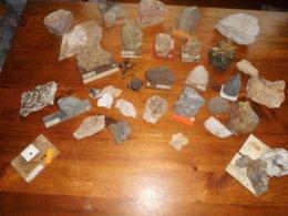 Collection De Fosiles, Quarz.... - Minerals
