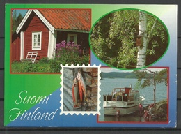 FINLAND Post Card 1996 Sent, With 2 Stamps - Finland