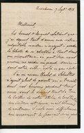 USINES METALLURGIQUES DE DIETRICH. LAS DE NIEDERBRONN 1858 - Autographs