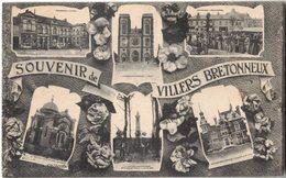 VILLERS BRETONNEUX SOMME : Souvenir Multivue - Circulé AMIENS - Mmme VILBERT - Villers Bretonneux