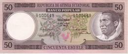 BILLETE DE GUINEA ECUATORIAL DE 50 EKUELE DEL AÑO 1975 EN CALIDAD EBC (XF)  (BANKNOTE) - Guinée Equatoriale