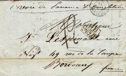 """1857- Lettre De Valparaiso """" Voie De Panama & D'Angleterre """"  -échange G B / 2f87 8 /10 + Taxe 12 D. Française - Chile"""
