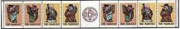 Taiwan 1991 Auspicious Stamps Booklet God Costume Peach Calligraphy Coin Myth - 1945-... République De Chine