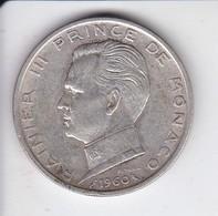 MONEDA DE PLATA DE MONACO DE 5 FRANCOS DEL AÑO 1960  (COIN) SILVER,ARGENT. - 1960-2001 Francos Nuevos