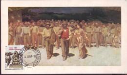 """""""Quarto Stato"""" People Marching, 1987 Grecia Maximum Card - Maximum Cards & Covers"""