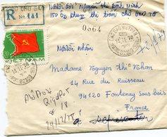 VIET-NAM LETTRE RECOMMANDEE AVEC AFFRANCHISSEMENT COMPLEMENTAIRE AU DOS DEPART CHO GAO 14-11-78 VIET-NAM POUR LA FRANCE - Vietnam