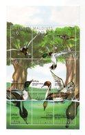 MALDIVE - Foglietto Tematica Animali - Uccelli - Anatre - 9 Valori - Nuovi - (FDC12529) - Maldive (1965-...)