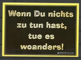 Deutschland Postkarte Humor (gesendet 1999, Mit Briefmarke) - Humor