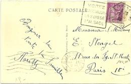 RHIN / Bas - Dépt N° 67 = WANGENBOURG 1933 = FLAMME  DAGUIN Hexagonal' SUISSE D' ALSACE' + CPA ROSSKOPF - Poststempel (Briefe)