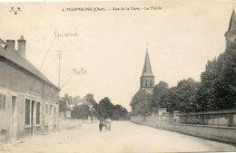 CPA - MARMAGNE (18) - Aspect De La Rue De La Gare , De La Poste Et De L'Epicerie  En 1915 - Sonstige Gemeinden