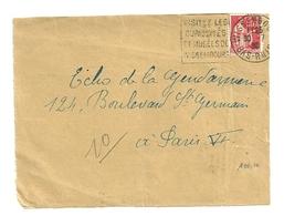 RHIN / Bas - Dépt N° 67 = WISSEMBOURG 1936 = FLAMME ENTIERE =  DAGUIN  ' Musées / Curiosités ' - Poststempel (Briefe)
