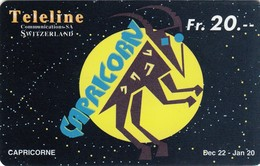 Telecarte SUISSE TELELINE -  CAPRICORNE - Astronomie