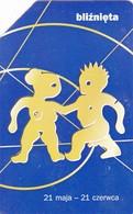 Telecarte POLOGNE - GEMEAUX - Astronomy