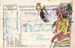 """1918 Cartolina """"Vittoria Alata"""" Con Motto """"Cittadini E Soldati Siate Un Esercito Solo"""" - Viaggiata - 1900-44 Vittorio Emanuele III"""