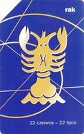 Telecarte POLOGNE - SCORPION - Astronomy