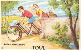 TOUL - Venez Avec Nous,carte à Système Avec Dépliant De La Ville. - Toul