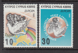 1995 Cyprus Concentration Camps, Rainbow, Peace Dove Of 2 MNH - Nuovi