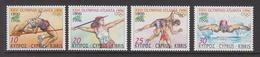 1996 Cyprus Summer Olympics Atlanta Set Of 4 MNH - Cyprus (Republiek)