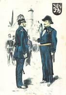 Politie Rijkswacht Gent 1900 Politieuniformen  Inspectie Voor De Parade Uniform  X 4231 - Police - Gendarmerie