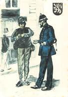 Politie Rijkswacht Gent 1900 Politieuniformen Identiteitscontrole    X 4233 - Police - Gendarmerie
