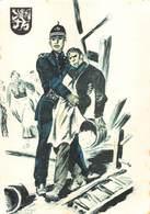 Politie Rijkswacht Gent 1900 Politieuniformen   Eerste Hulp Aan Burgers    X 4234 - Police - Gendarmerie