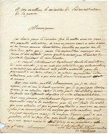LIMOUSIN ? SEIGNEURS DE VANTEAUX ? EMOUVANTE LAS DATEE 1812 DEMANDE DE SECOURS AU MINISTRE DE LA GUERRE - Autographs