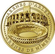 13 ARLES & 30 GARD NÎMES LES ARÉNES MÉDAILLE TOURISTIQUE ARTHUS BERTRAND 2010 JETON MEDALS TOKENS COINS - 2010