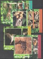 K231 2014 LIBERIA BATS OF AFRICA 2BL+2KB MNH - Chauve-souris