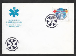 Portugal Conférence De Secourisme 112 Cachet Commemoratif 1980 Medical First Aid Conference Event Postmark - Secourisme