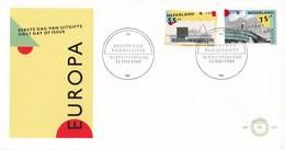 Nederland - FDC - Europa-CEPT - Danstheater, Scheveningen/school, Amsterdam - NVPH E245 - Géographie