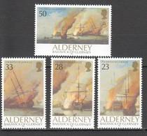 K237 1992 ALDERNEY TRANSPORT SHIPS BATTLE OF LA HOGUE 1SET MNH - Bateaux