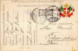 """""""Cartolina Postale Italiana In FRANCHIGIA - Corrispondenza Del R. Esercito"""" - Viaggiata (1916) - 1900-44 Vittorio Emanuele III"""