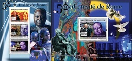Guinea 2007, 50th Treaty Of Rome, Churchill, 3val In BF +BF - Sir Winston Churchill