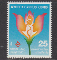 1994 Cyprus International Year Of The Family Set Of 1 MNH - Nuovi