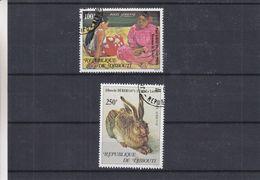 Peinture - Gauguin - Dürer - Djibouti - Yvet PA 125 / 26 Oblitérés - Lièvres - Femmes De Tahiti - Impressionisme
