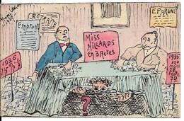 Rhode-St-Genèse (1640) : Caricature : Miss Milliards En 3 Actes. Dessin Satirique De Tromp Lamort (1935). CPA Ultra Rare - Rhode-St-Genèse - St-Genesius-Rode