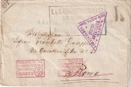 AUTRICHE 1914-18 LETTRE DE PRISONNIER DE GUERRE  CENSUREE A VIENNE A DESTINATION DE ROME - 1850-1918 Imperium