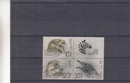 Russie - Yvert 5742 / 44 ** - Rapaces - Faucon - Aigle ? - Animaux - Avec Vignette - Zèbres - Aigles & Rapaces Diurnes