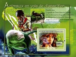 Guinea 2007, 100th Scouting, Animals, Dugongs, Gazelle, Sophie Marceau, BF - Mammifères Marins