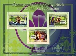 Guinea 2007, 100th Scouting, Animals, Gorilla, Gazelle, Seal, 3val In BF - Gorilles