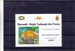 Burundi - COB 1835 ** En Petite Feuille - NON Dentelés - Grenouilles - Armoiries - - Grenouilles