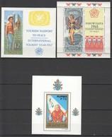 K247 !!! IMPERFORATE, PERFORATE 1967,1981 INDONESIA PILIPINAS POPE JOHN PAUL II TOURISM 3BL MNH - Arts