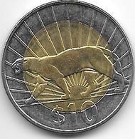 *uruguay 10  Pesos 2011  Km 134    Unc - Uruguay