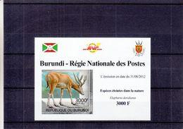 Burundi - COB 1836 ** En Petite Feuille - NON Dentelés - Cerfs - Armoiries - - Gibier