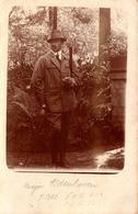 Carte Photo Originale Sports & Loisirs - La Chasse & Portrait Du Chasseur Le Major Aldenhoven Vers 1920/30 - Personnes Identifiées