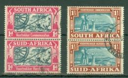 South Africa: 1938   Voortrekker Commemoration    Used Pairs - Gebraucht