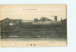 Cie De L'Est : Locomotive Compound Mixte 3419. 2 Scans. Les Locomotives, Edition Fleury - Matériel