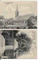 Rhode-St-Genèse (1640) : L'Eglise / Le Monument Aux Héros Morts Pour La Patrie. Petite Animation. CPA. - Rhode-St-Genèse - St-Genesius-Rode