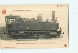 Cie Du Nord : Machine Tramway 2942. TBE. 2 Scans. Les Locomotives, Edition Fleury - Matériel